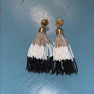 JCREW Beaded Tassel Earrings , Never Worn